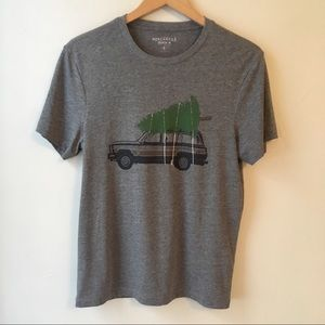 J.Crew Mercantile X-Mas Tree Woody Car Graphic Tee